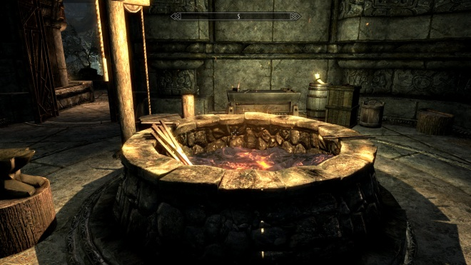 A forge in Skyrim