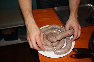 Making sausage!
