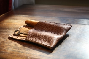 Corkscrew pouch